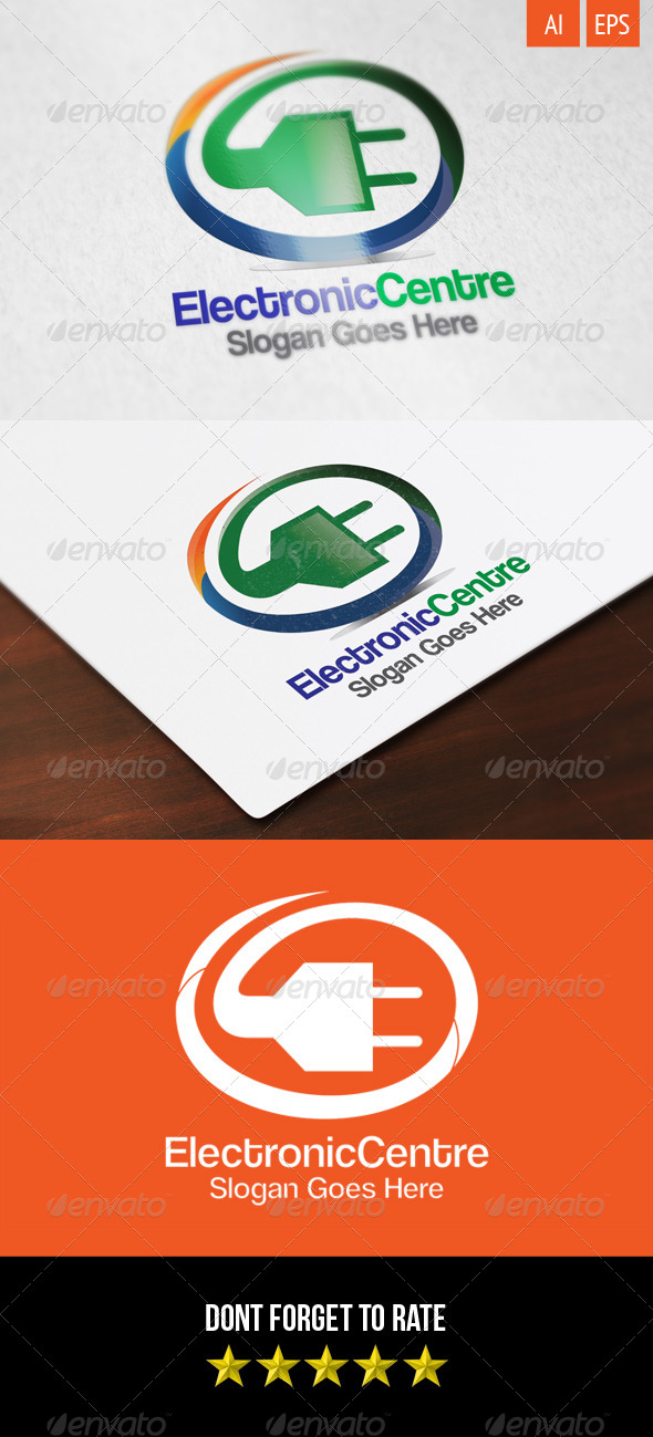 GraphicRiver Electronic Centre Logo 8295586