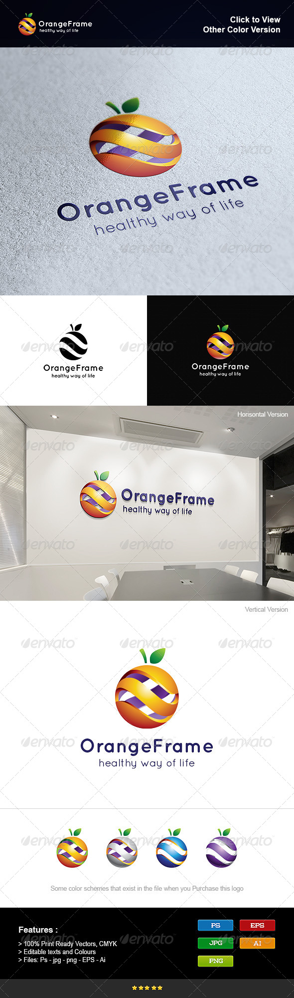 GraphicRiver 3D Orange Frame 8295605
