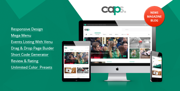 Caps Responsive News/ Magazine Wordpress Theme - Blog / Magazine WordPress