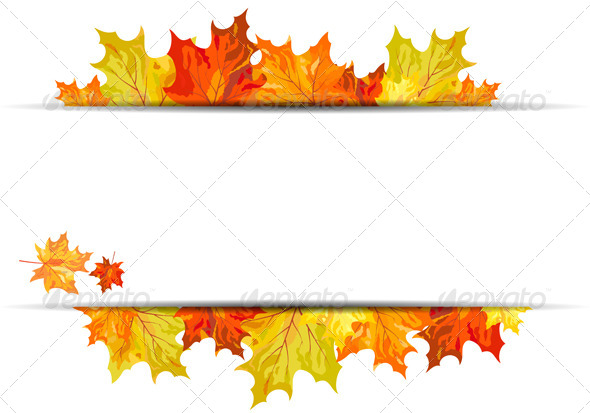 GraphicRiver Autumn Maple Background 8295665