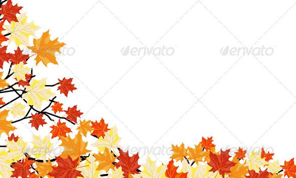 GraphicRiver Autumn Maple Background 8295732