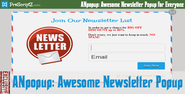 CodeCanyon ANpopup Awesome Newsletter Popup for Everyone 8232533