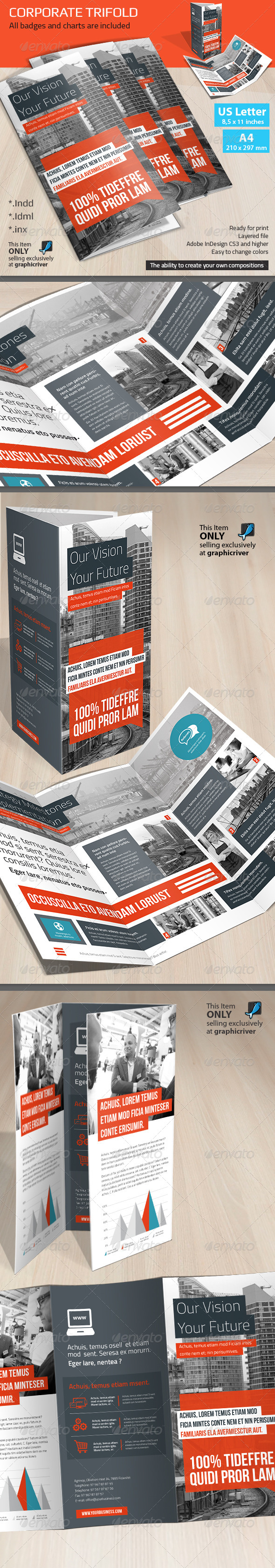 GraphicRiver Corporate Tri-fold Brochure Vol 8 8295931
