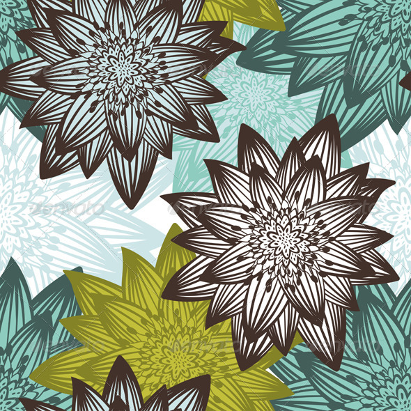 GraphicRiver Seamless Floral Pattern 8296007