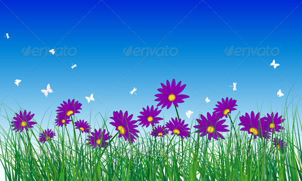 GraphicRiver Meadow Color Background 8296163