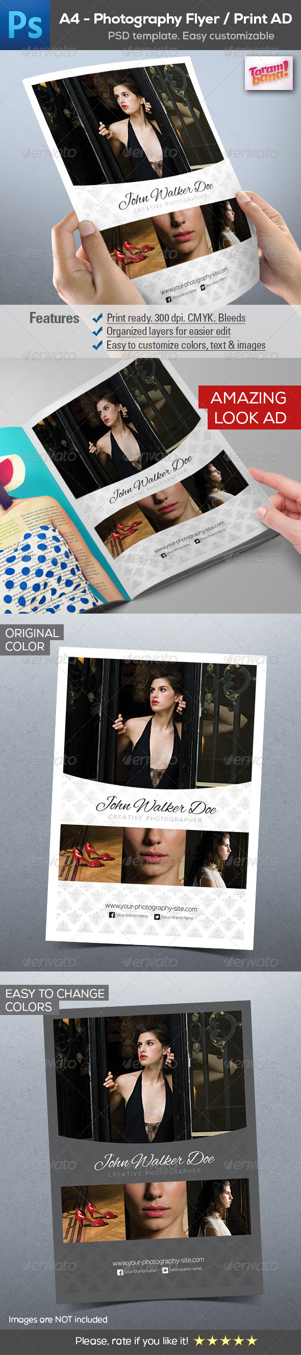 GraphicRiver A4 Photography Flyer AD layout 8296184