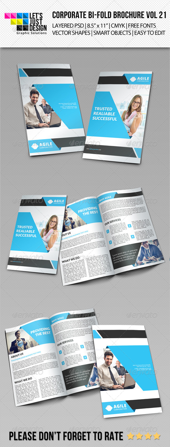 GraphicRiver Creative Corporate Bi-Fold Brochure Vol 21 8278798