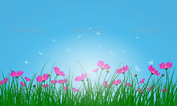 GraphicRiver Meadow Color Background 8296205