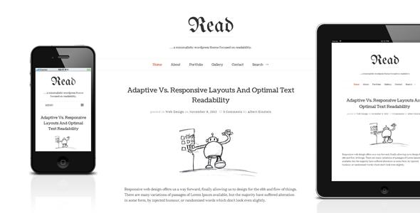 Read WP - Responsive HTML5 Minimalist Theme - Personal Blog / Magazine