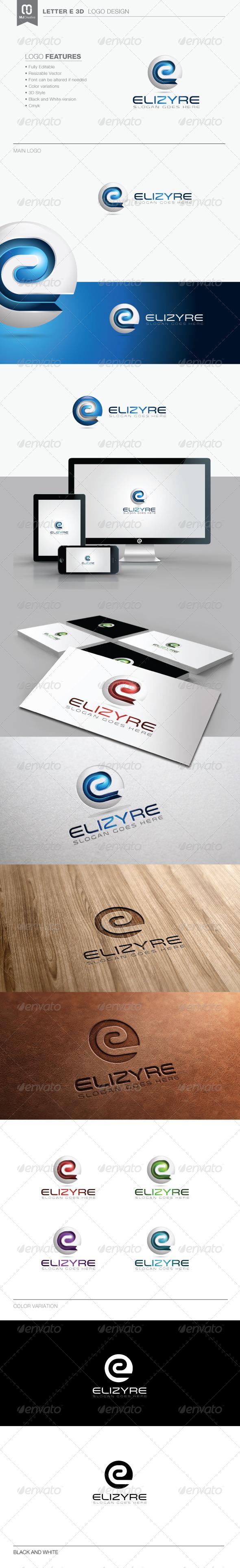 GraphicRiver Letter E 3D Logo 8296307