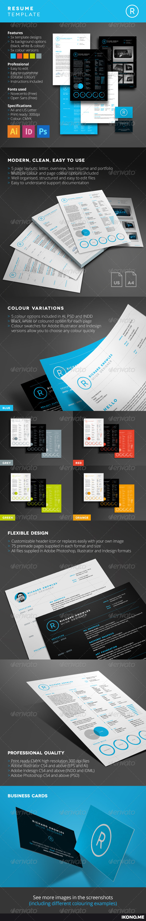 GraphicRiver RESUME 8296312