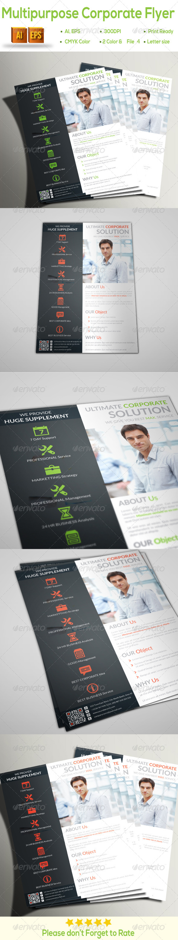GraphicRiver Multipurpose Corporate Flyer 8296400