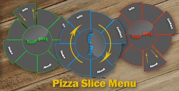 CodeCanyon Pizza Slice Menu 8296426