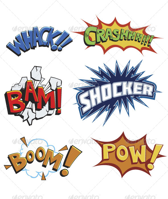GraphicRiver Comicbook Words 8296442