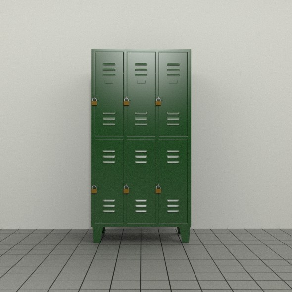 3DOcean Double Tier Locker 8296445