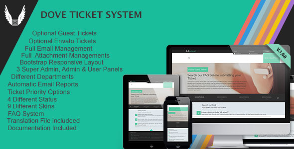 CodeCanyon Dove Ticket System 8296470