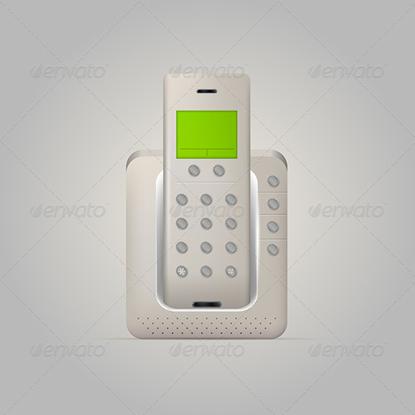 GraphicRiver Illustration of Home Radiotelephone 8296481