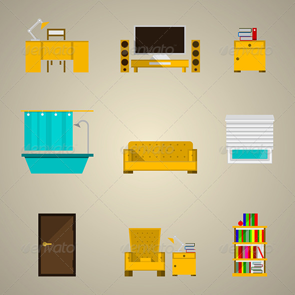 GraphicRiver Icons for Apartment 8296510