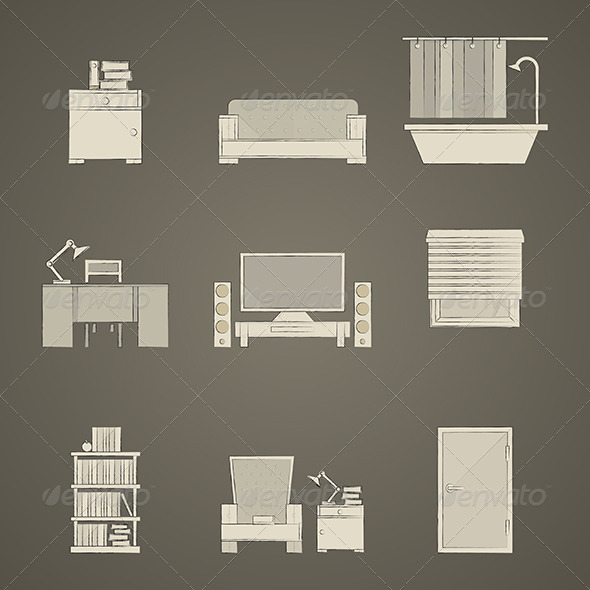 GraphicRiver Icons for Apartment 8296523
