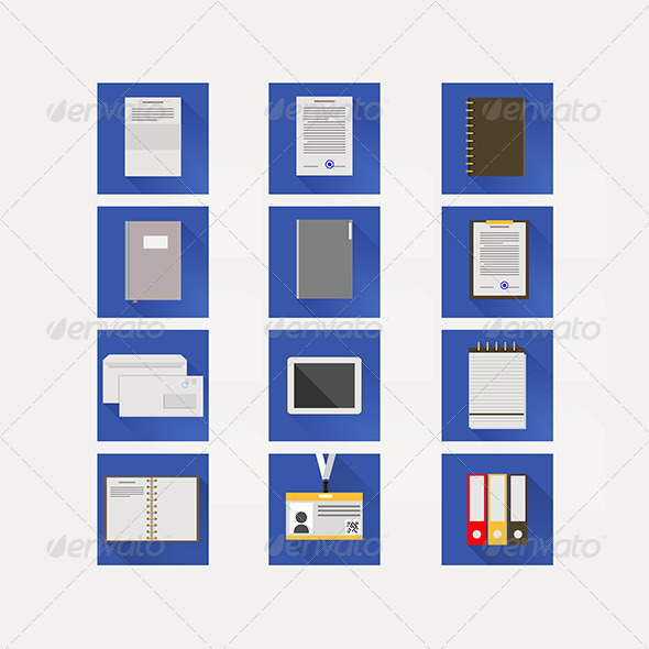GraphicRiver Flat Icons for Business 8296548