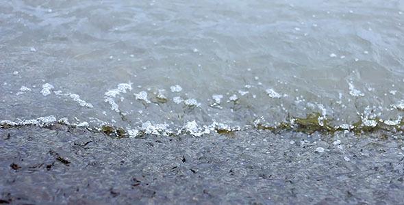 Sea Waves On Concrete
