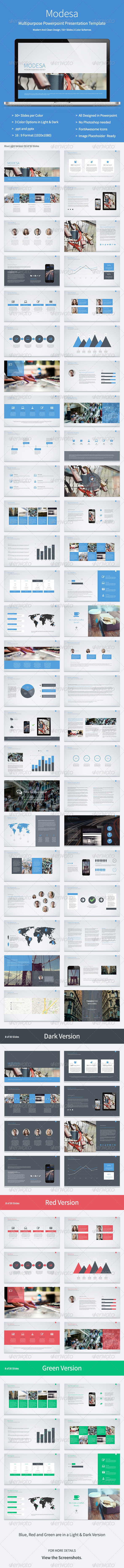 GraphicRiver Modesa Powerpoint Multipurpose Template 8296694