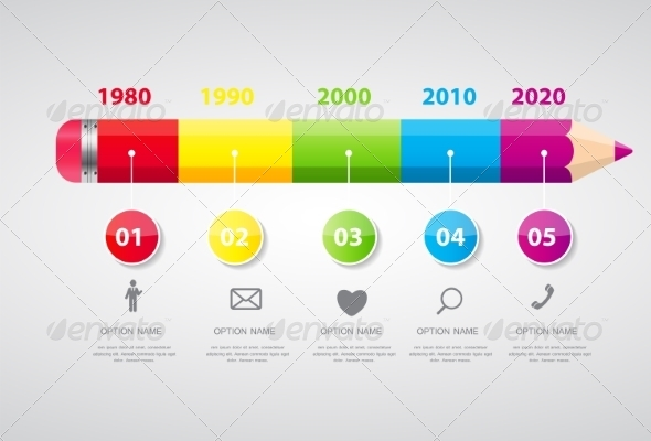 GraphicRiver Timeline Infographic Template for Business Vector 8296750