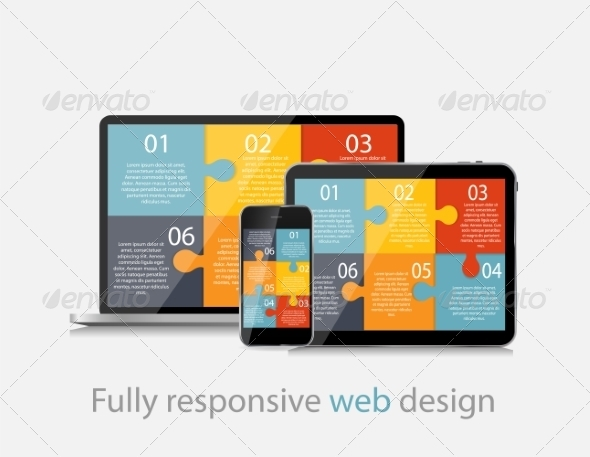 GraphicRiver Fully Responsive Web Design Concept Vector 8296755