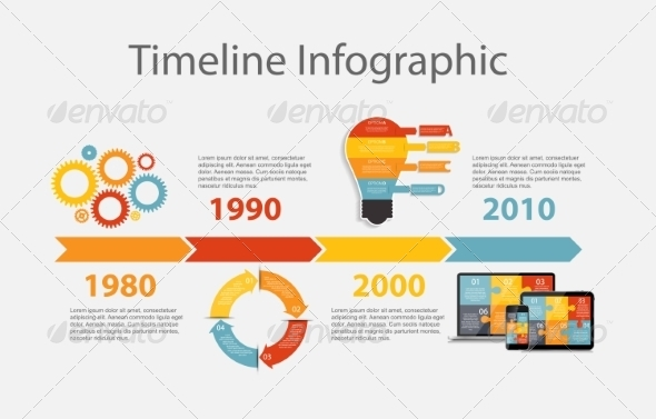 GraphicRiver Timeline Infographic Template for Business Vector 8296757