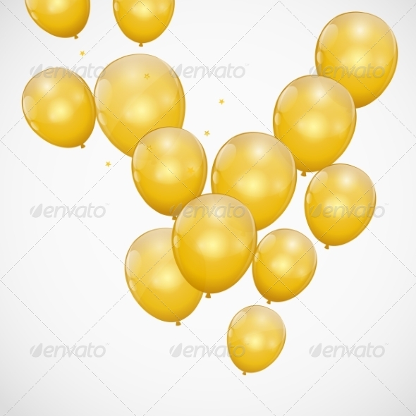 GraphicRiver Color Glossy Balloons Background 8296830