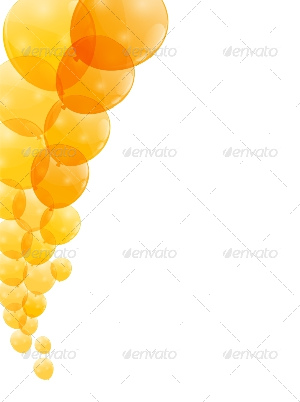 GraphicRiver Color Glossy Balloons Background 8296833