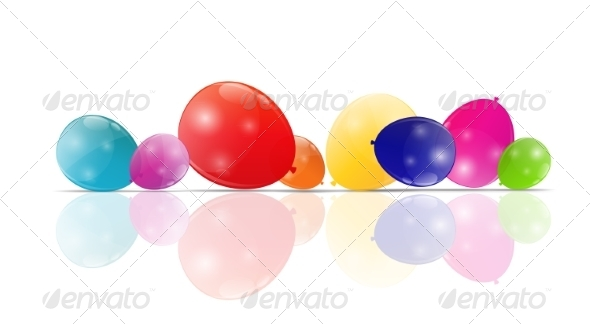 GraphicRiver Color Glossy Balloons Background 8296837