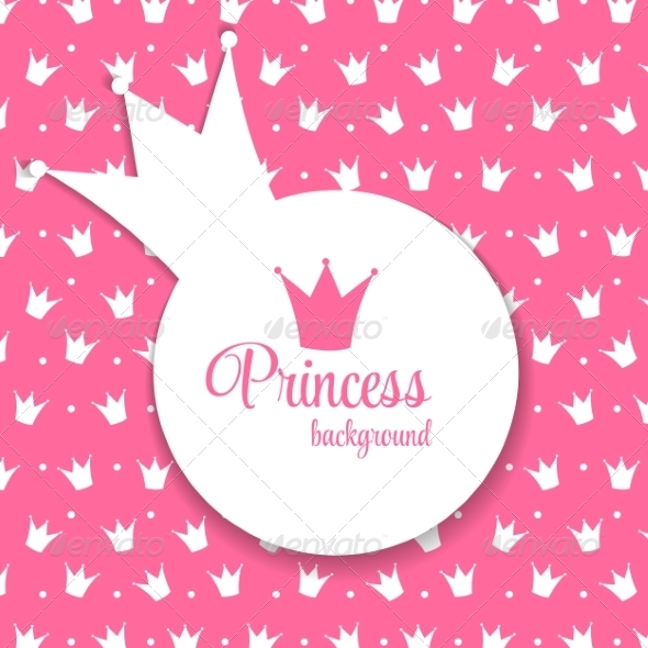 GraphicRiver Princess Crown Background Vector Illustration 8296842