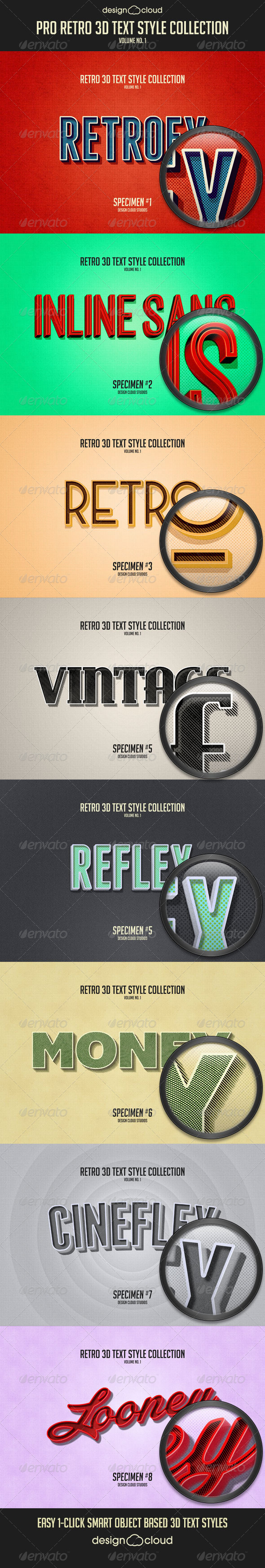 GraphicRiver Pro Retro 3D Text Effects Vol 1 8293832