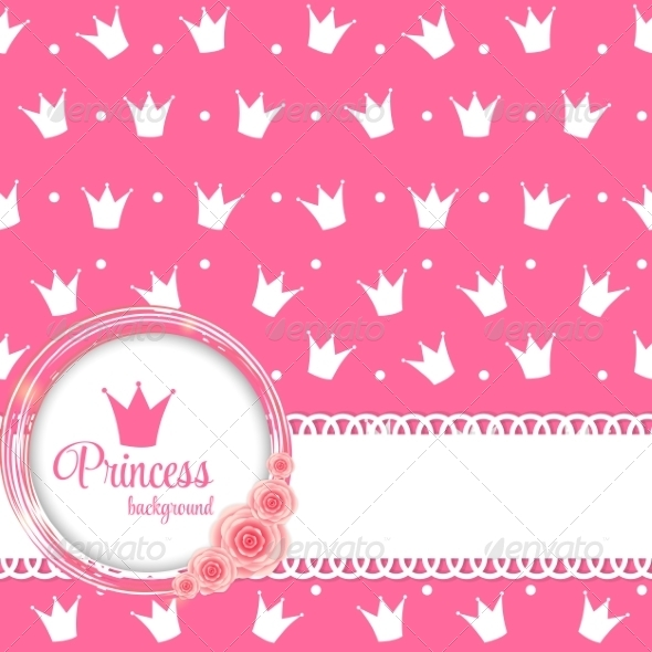 GraphicRiver Princess Crown Background Vector Illustration 8296866