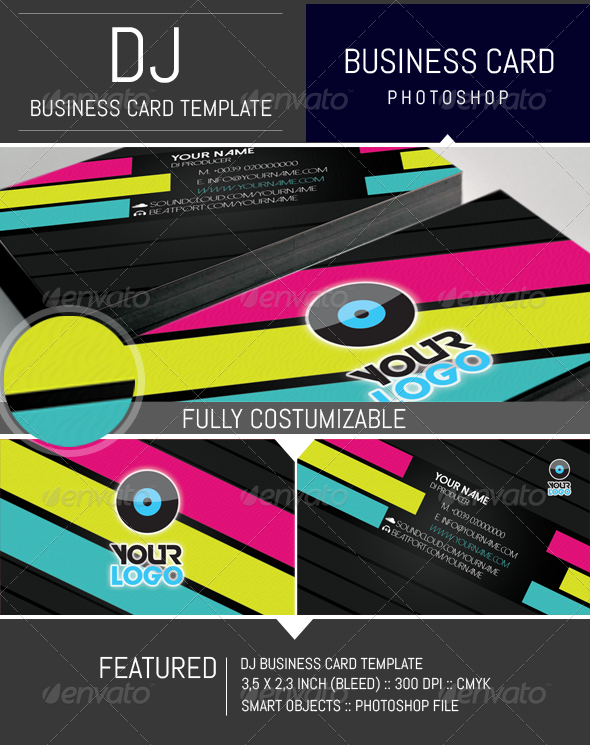 GraphicRiver Modern Dj Business Card Template 8296894
