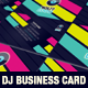 Modern Dj Business Card Template - GraphicRiver Item for Sale