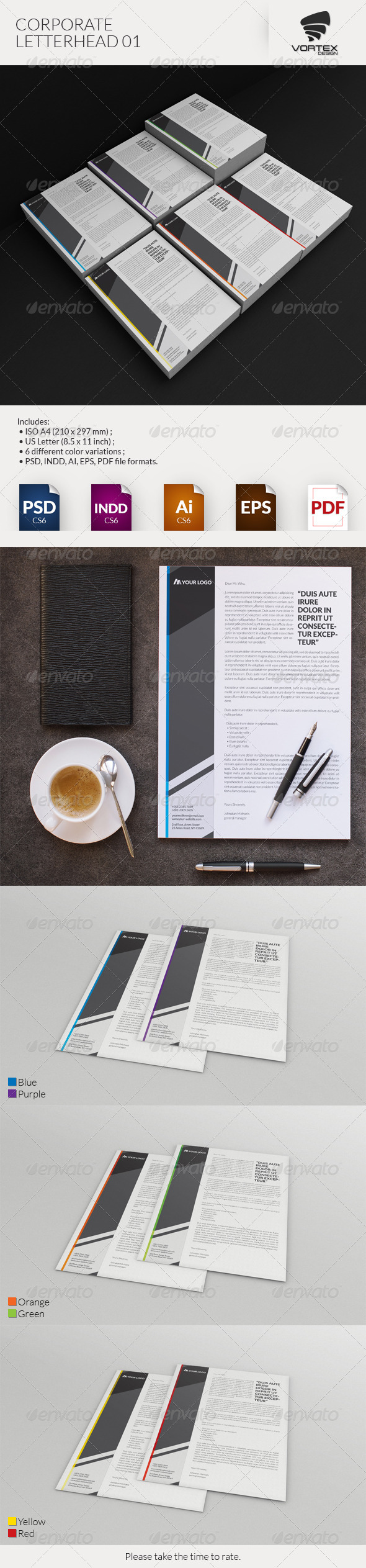 GraphicRiver Corporate Letterhead 01 8296903