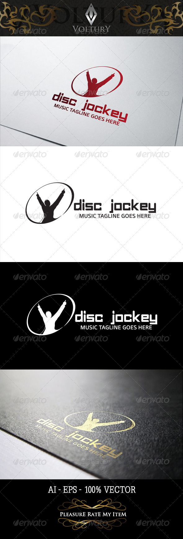 GraphicRiver Disc Jockey Logo 8298334