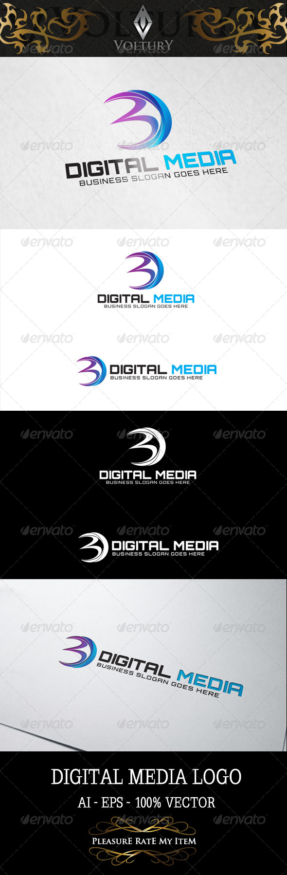 Digital Media Letter D Logo