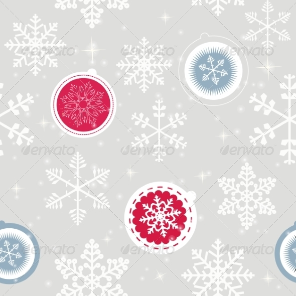 GraphicRiver Winter Christmas New Year Seamless Pattern 8302306