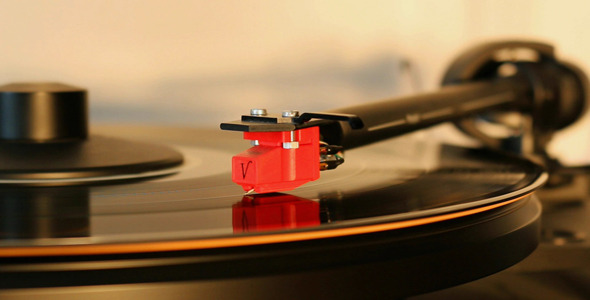 Turntable Playing Record 2