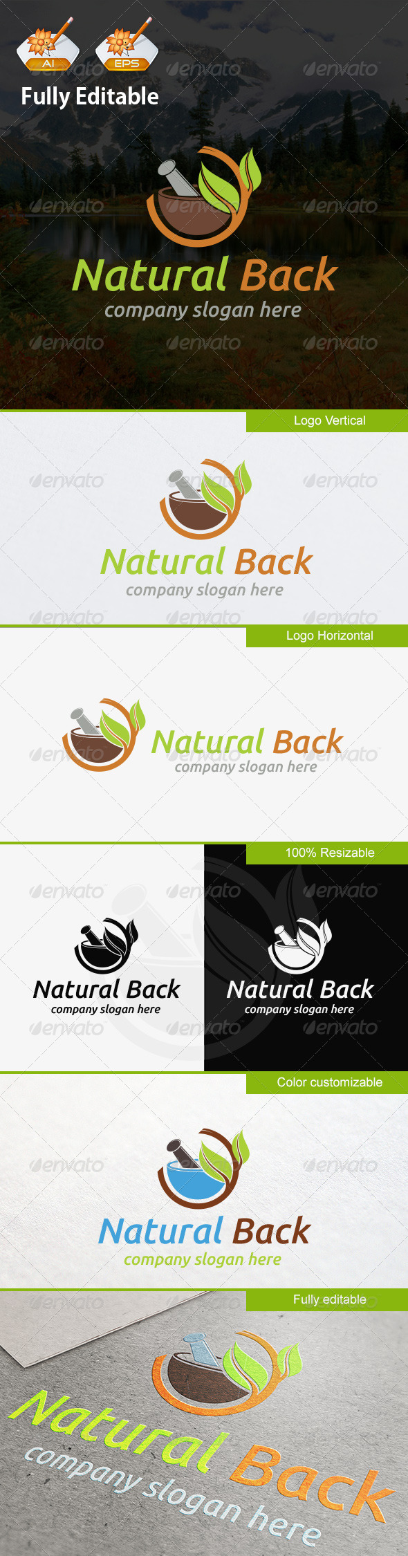 GraphicRiver Natural Back 8302326