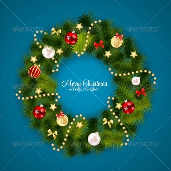 GraphicRiver Abstract Christmas and New Year Background 8302338