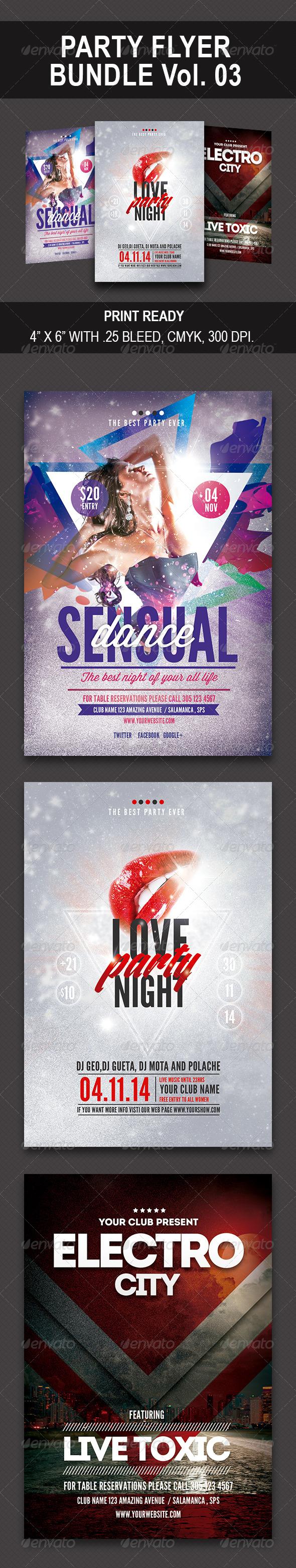 GraphicRiver Party Flyer Bundle Vol 03 8302369