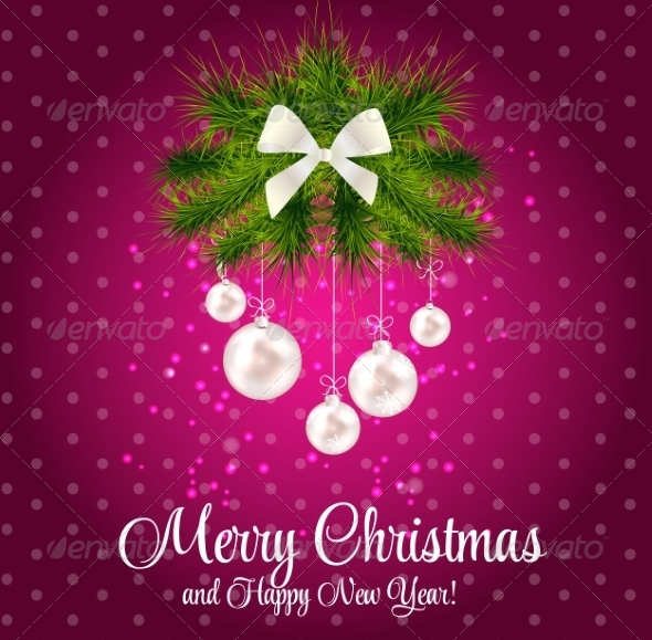 GraphicRiver Abstract Christmas and New Year Background 8302370