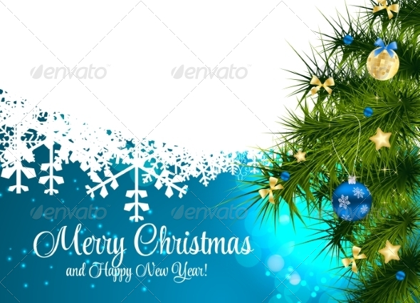 GraphicRiver Abstract Christmas and New Year Background 8302373