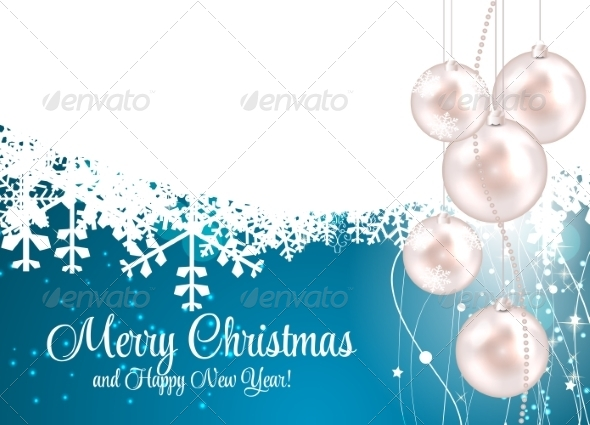 GraphicRiver Abstract Christmas and New Year Background 8302382