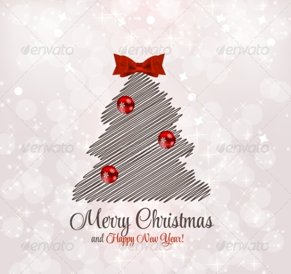 GraphicRiver Abstract Christmas and New Year Background 8302383