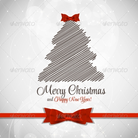 GraphicRiver Abstract Christmas and New Year Background 8302392